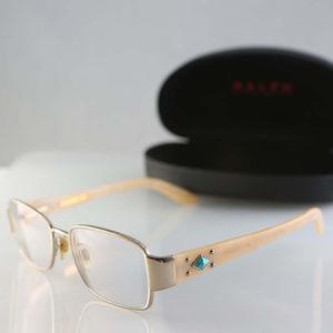 Ralph Lauren eyeglasses, gold & horn frame, Italy